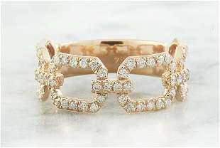 0.65 CTW Diamond 14K Rose Gold Ring