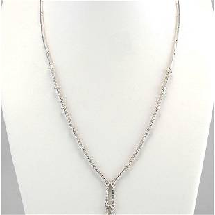 3.00 CTW Natural Diamond Necklace In 14k White Gold