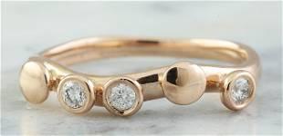 0.15 CTW 18K Rose Gold Diamond Ring