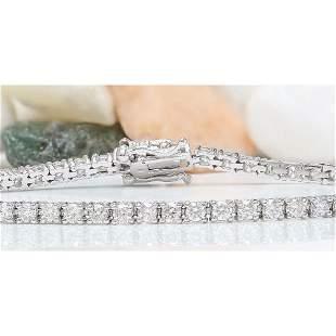 3.25 CTW Natural Diamond 14K Solid White Gold Bracelet