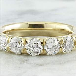 1.51 CTW Diamond 14K Yellow Gold Ring