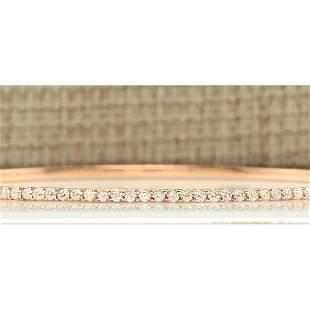 2.25 CTW Natural Diamond Bracelet In 14k Solid Rose