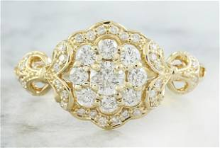 0.42 CTW Diamond 18K Yellow Gold Ring
