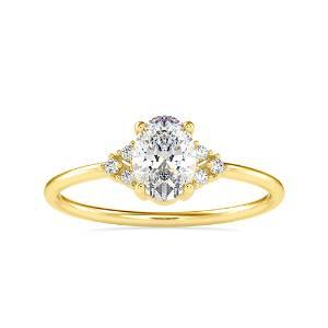 0.70CT Natural Diamond 14K Yellow Gold Ring