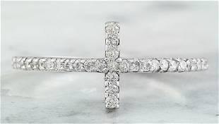 0.30 CTW 14K White Gold Diamond Ring