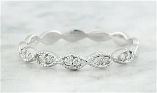 0.15 CTW Diamond 18K White Gold Ring
