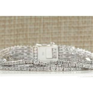 8.24CTW Natural Diamond Bracelet In 18K Solid White