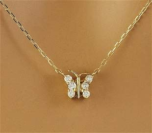 0.20 CTW Diamond 14K Yellow Gold Necklace