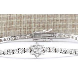 4.00 CTW Natural Diamond Bracelet In 18K Solid White