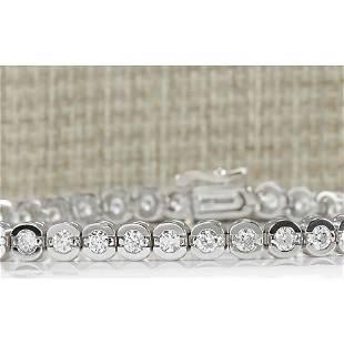 3.50 CTW Natural Diamond Bracelet In 18K White Gold