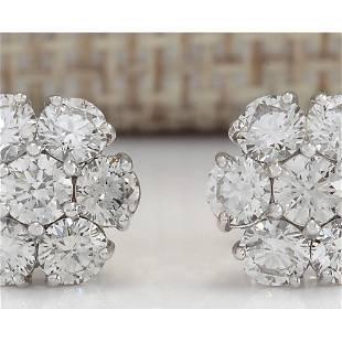 2.00 CTW Natural Diamond Earrings 18K Solid White Gold