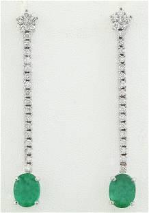 4.50 CTW Emerald Diamond Earrings