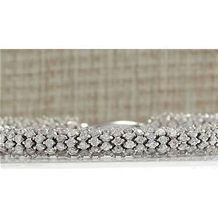 7.00CTW Natural Diamond Bracelet In 18K Solid White