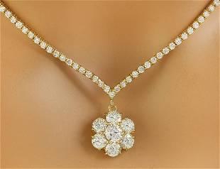 7.15 CTW Diamond 18K Yellow Gold Necklace