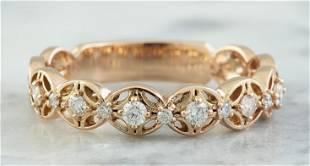 0.25 CTW 18K Rose Gold Diamond Ring