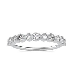 0.29CT Natural Diamond 14K White Gold Ring