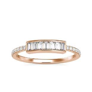 0.35CT Natural Diamond 14K Rose Gold Ring