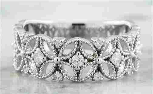 0.45 CTW 14K White Gold Diamond Ring