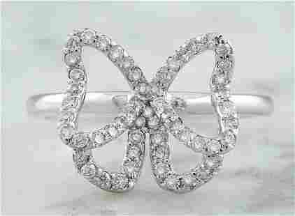 0.54 CTW 14K White Gold Diamond Ring