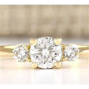 0.63 CTW Natural Diamond Engagement Ring 18K Solid