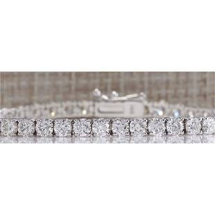 6.66CTW Natural Diamond Bracelet In 14K Solid White
