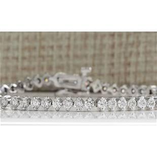 4.20CTW Natural Diamond Bracelet In 14K Solid White