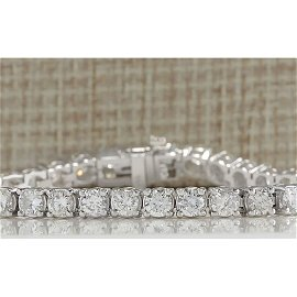 10.00 CTW Natural Diamond Bracelet In 18K Solid White
