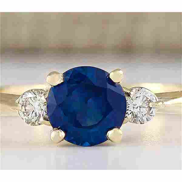 1.40 CTW Natural Sapphire And Diamond Ring In 18K