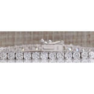 6.14CTW Natural Diamond Bracelet In 14K Solid White