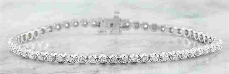 1.45 CTW Diamond 14K White Gold Bracelet