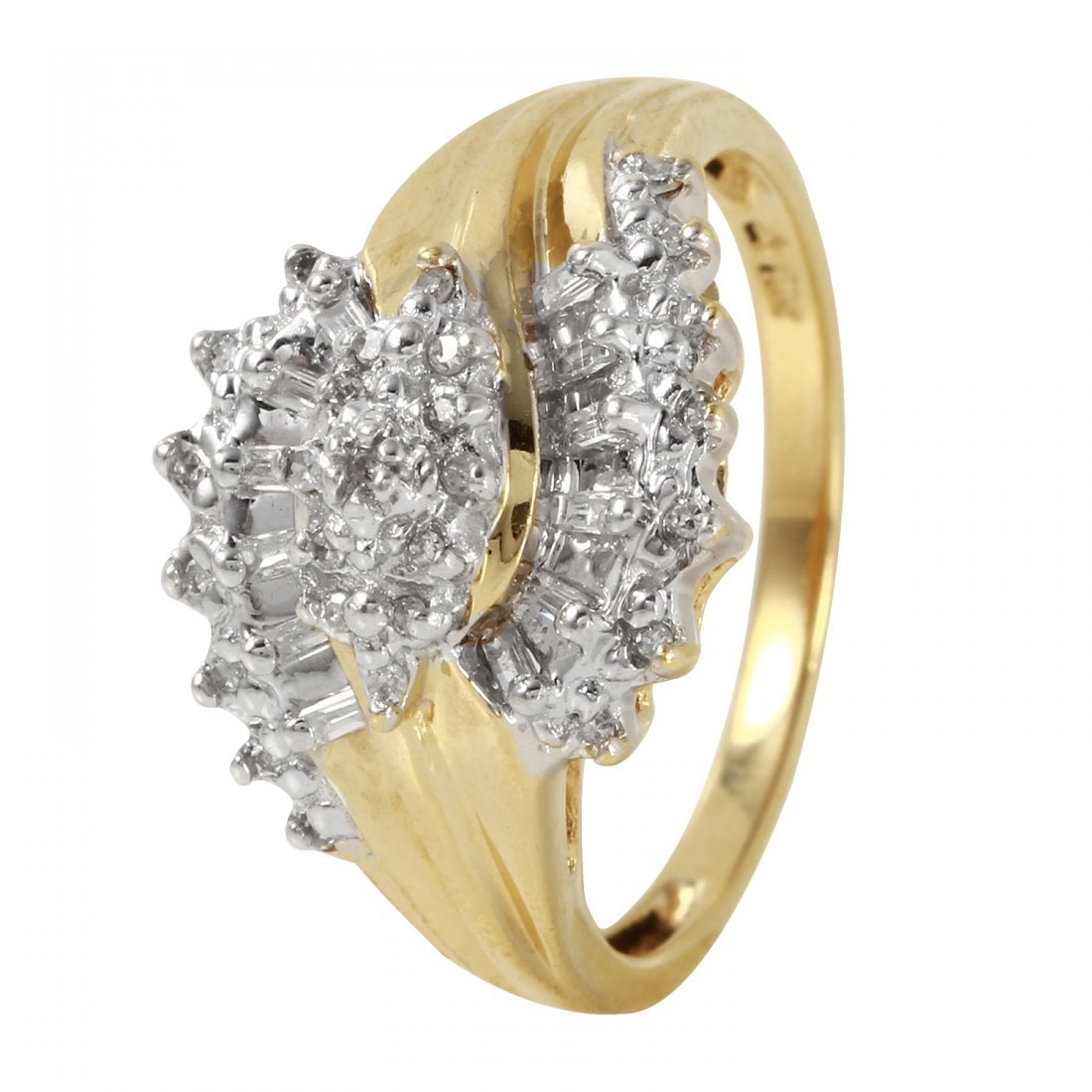 Ladies 0.25CTW Diamond 10K Yellow Gold Ring