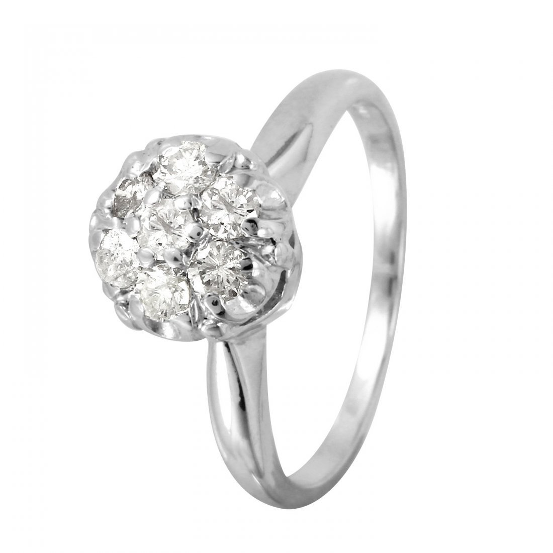 Ladies 0.5CTW Diamond 14K White Gold Ring