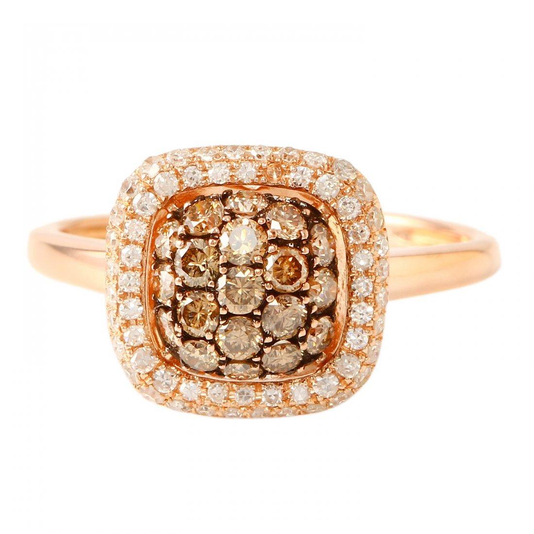 Ladies 0.6CTW Diamond 14K Rose Gold Ring