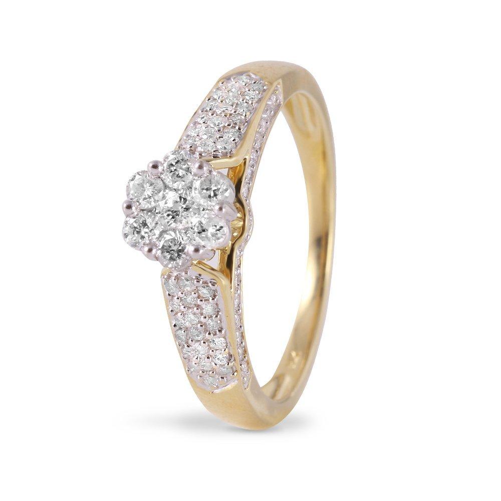 Ladies 0.7CTW Diamond 14K Yellow Gold Ring