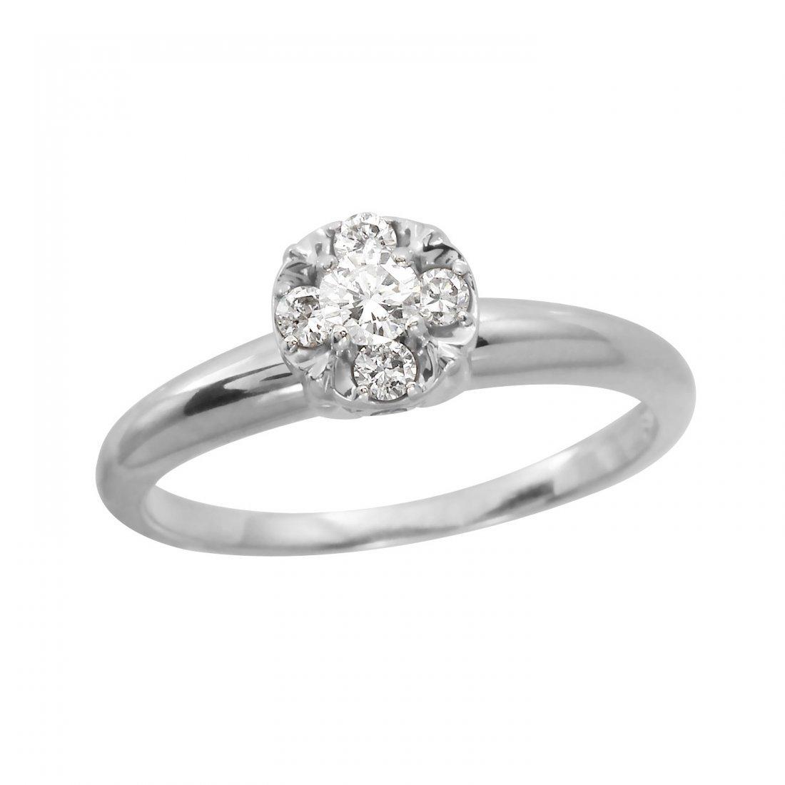 Ladies 0.3 CTW Diamond 14K White Gold Ring