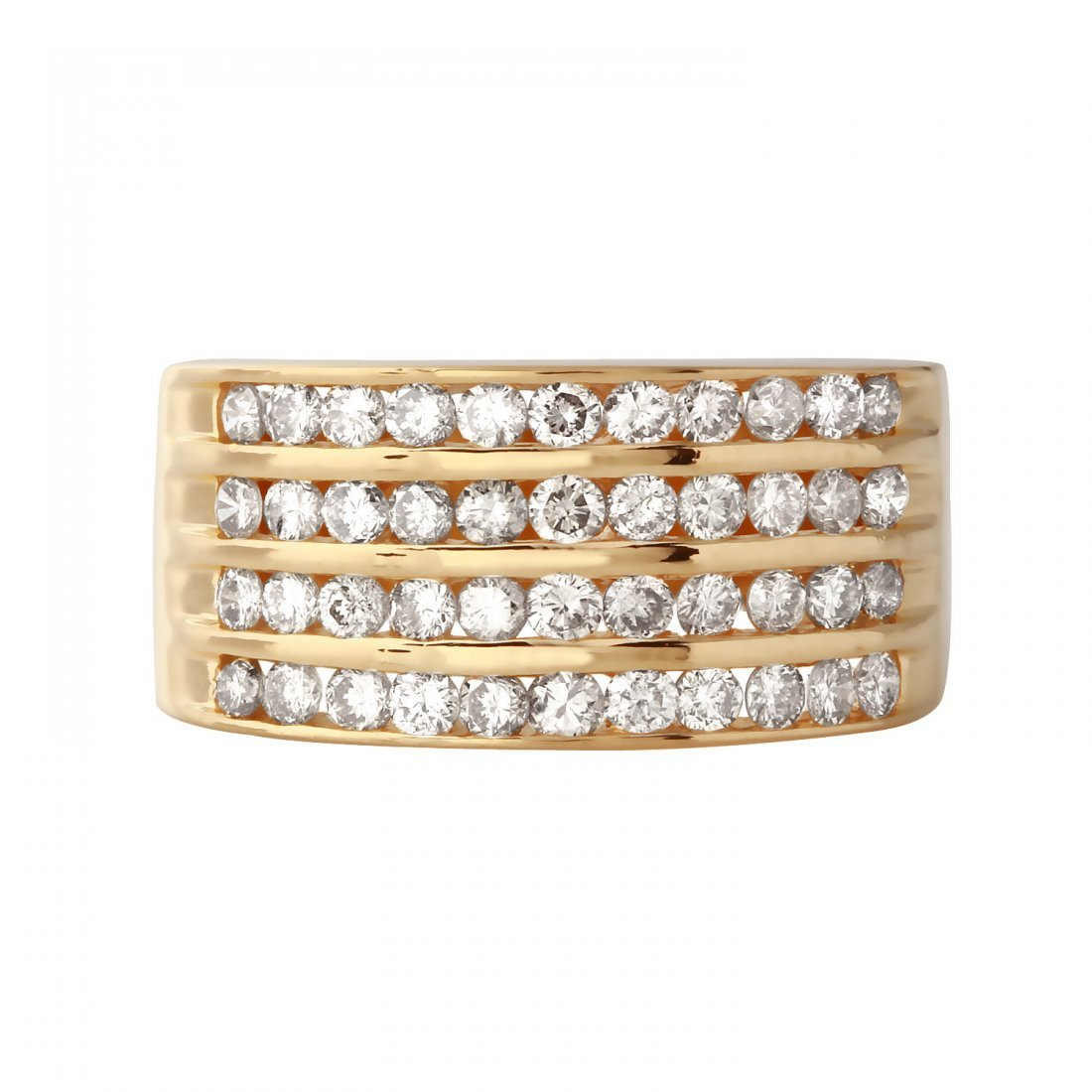 Ladies 1CTW Diamond 14K Yellow Gold Ring