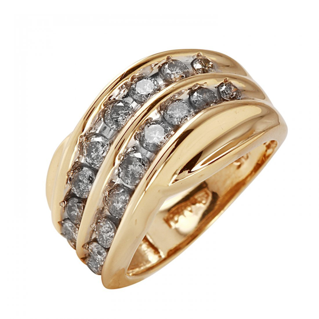 Ladies 1CTW Diamond 10K Yellow Gold Ring