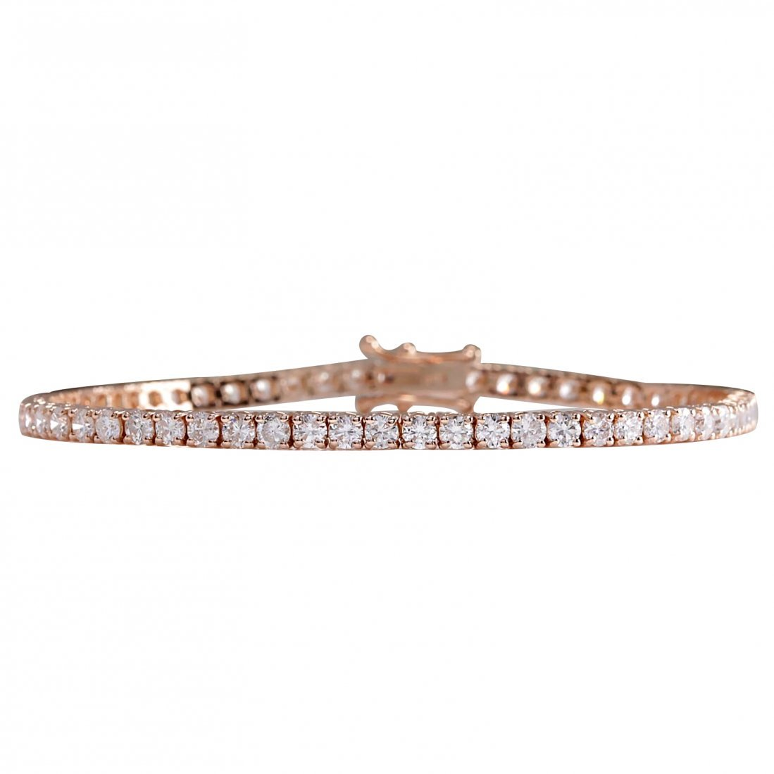 5.55CTW Natural Diamond Bracelet In 14K Rose Gold