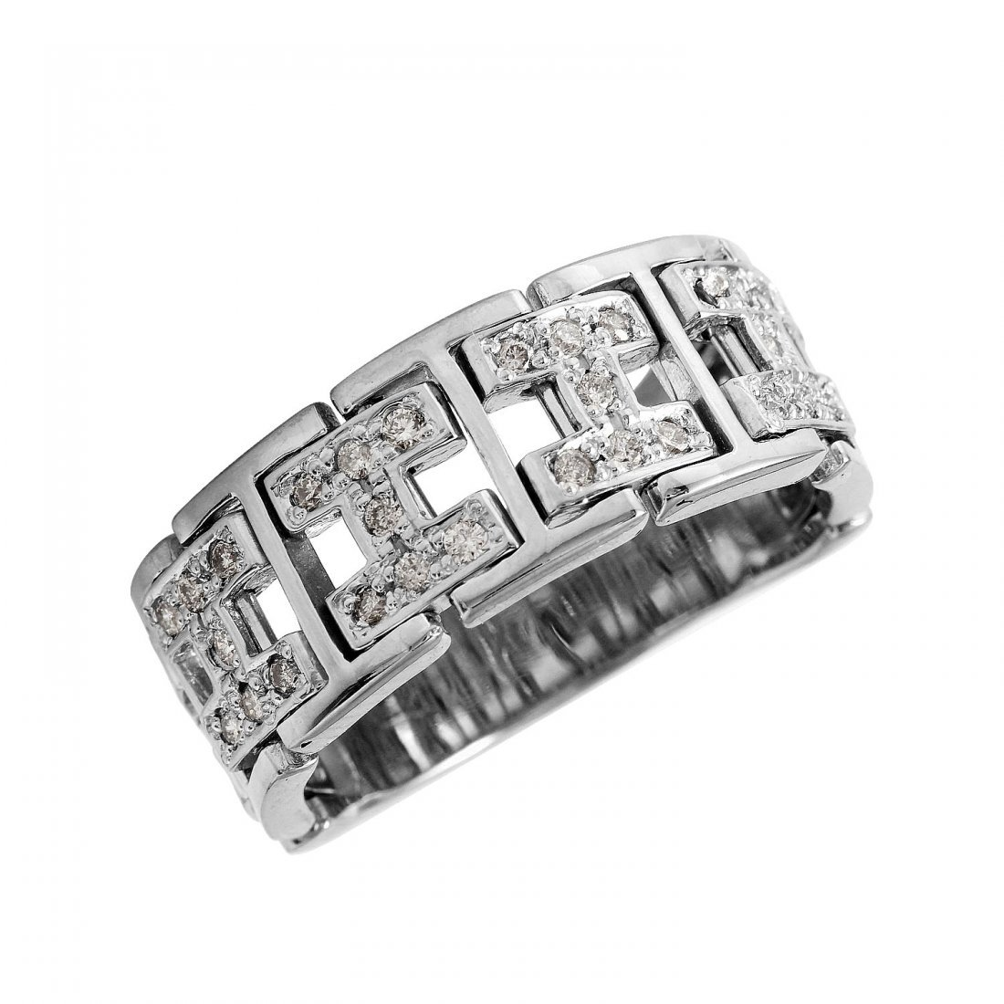Ladies 0.42CTW Diamond 18K White Gold Ring