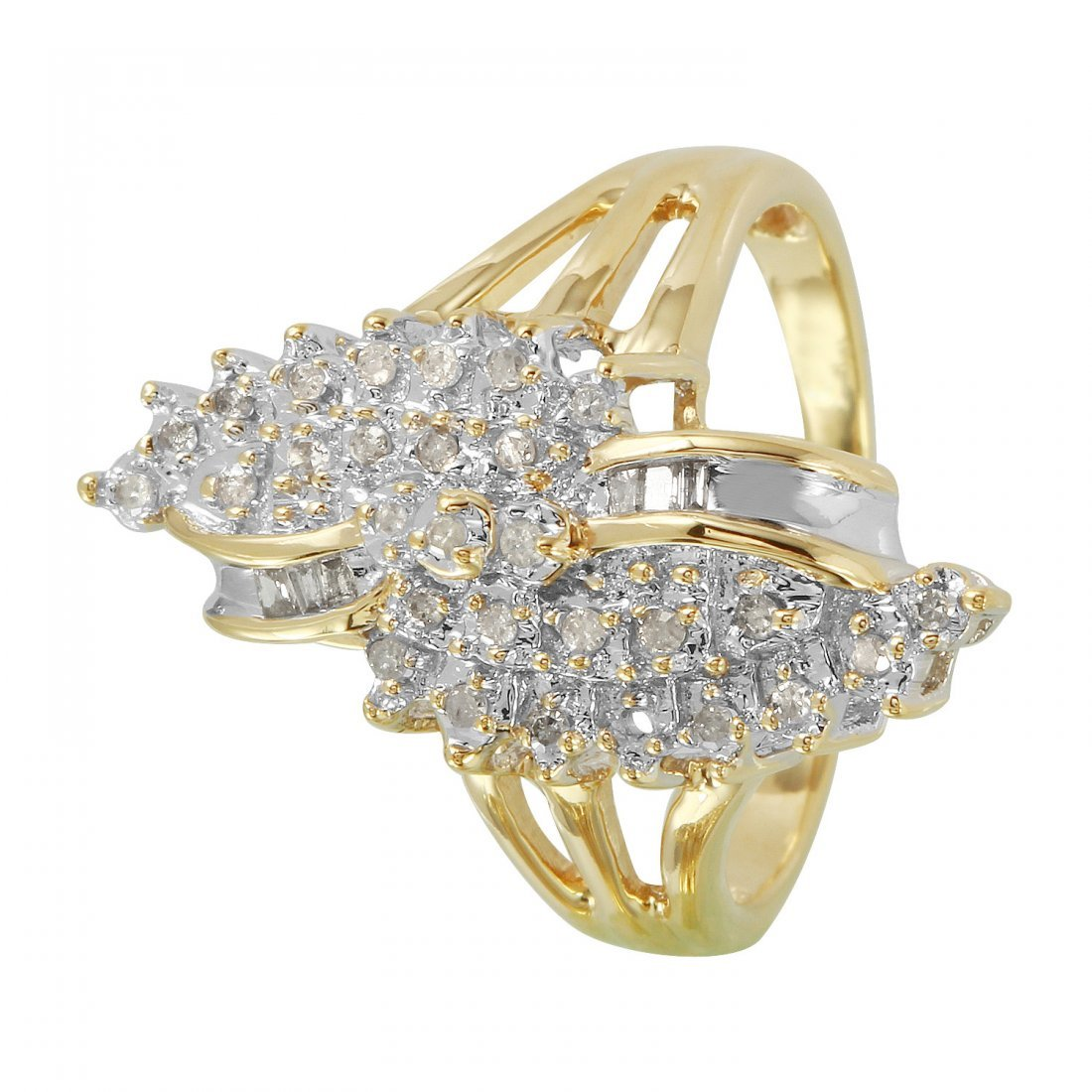 Ladies 0.26CTW Diamond 10k Yellow Gold Ring