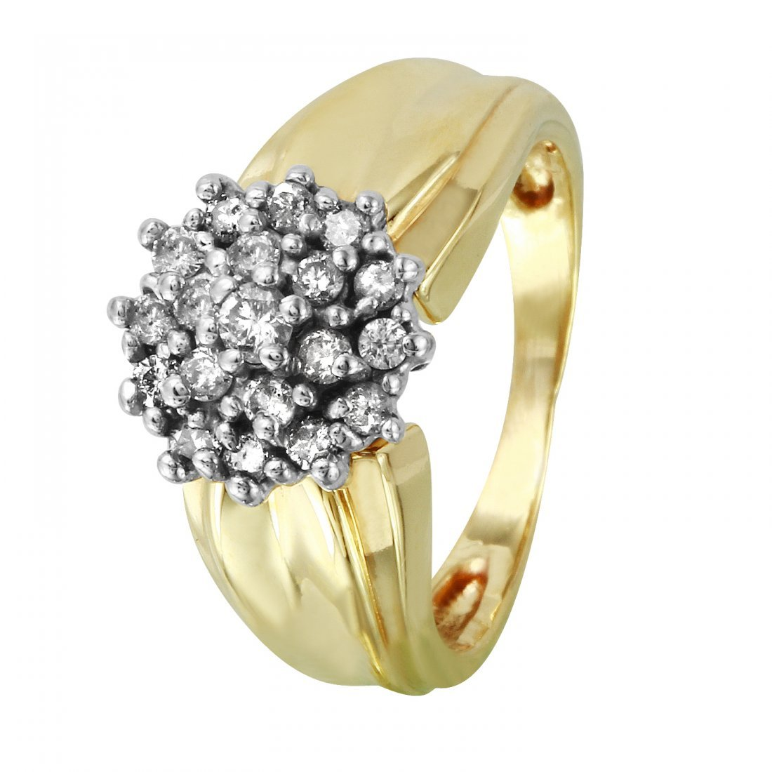 Ladies 0.35CTW Diamond 10k Two tone Gold Ring