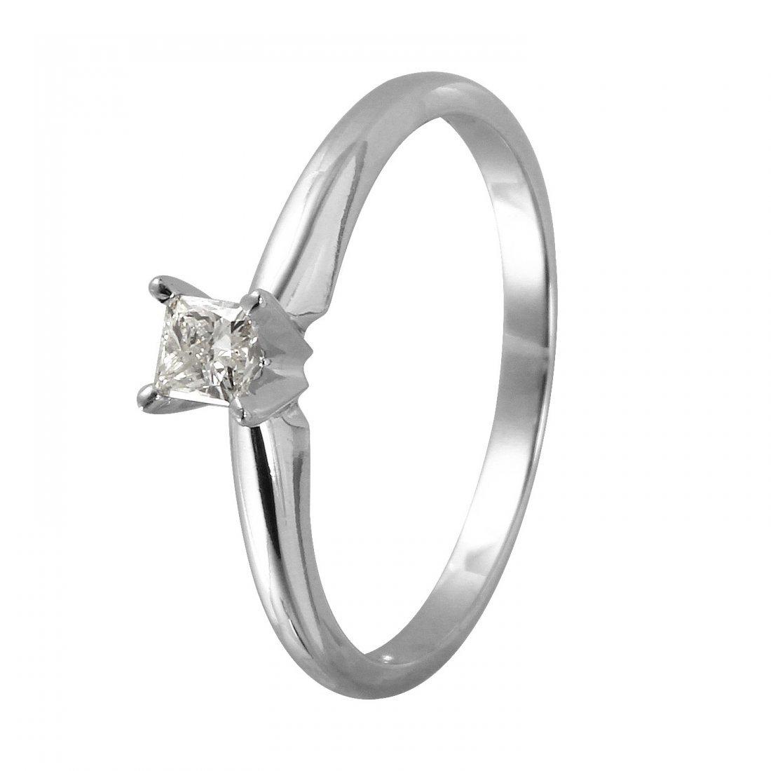 Ladies 0.2CTW Diamond 10k White Gold Ring