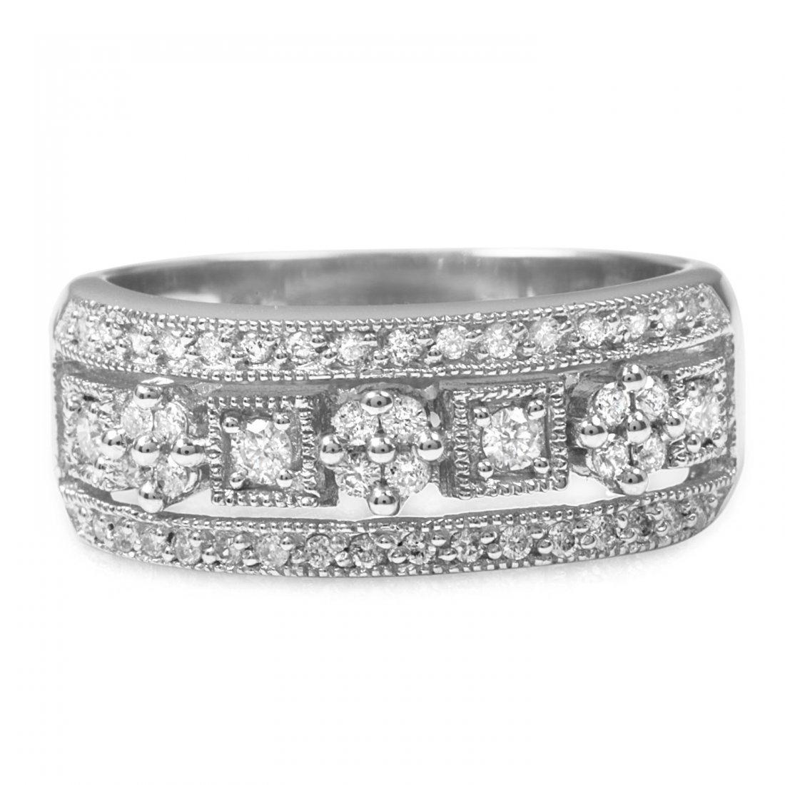 0.56CTW Diamond 14K White Gold Ring
