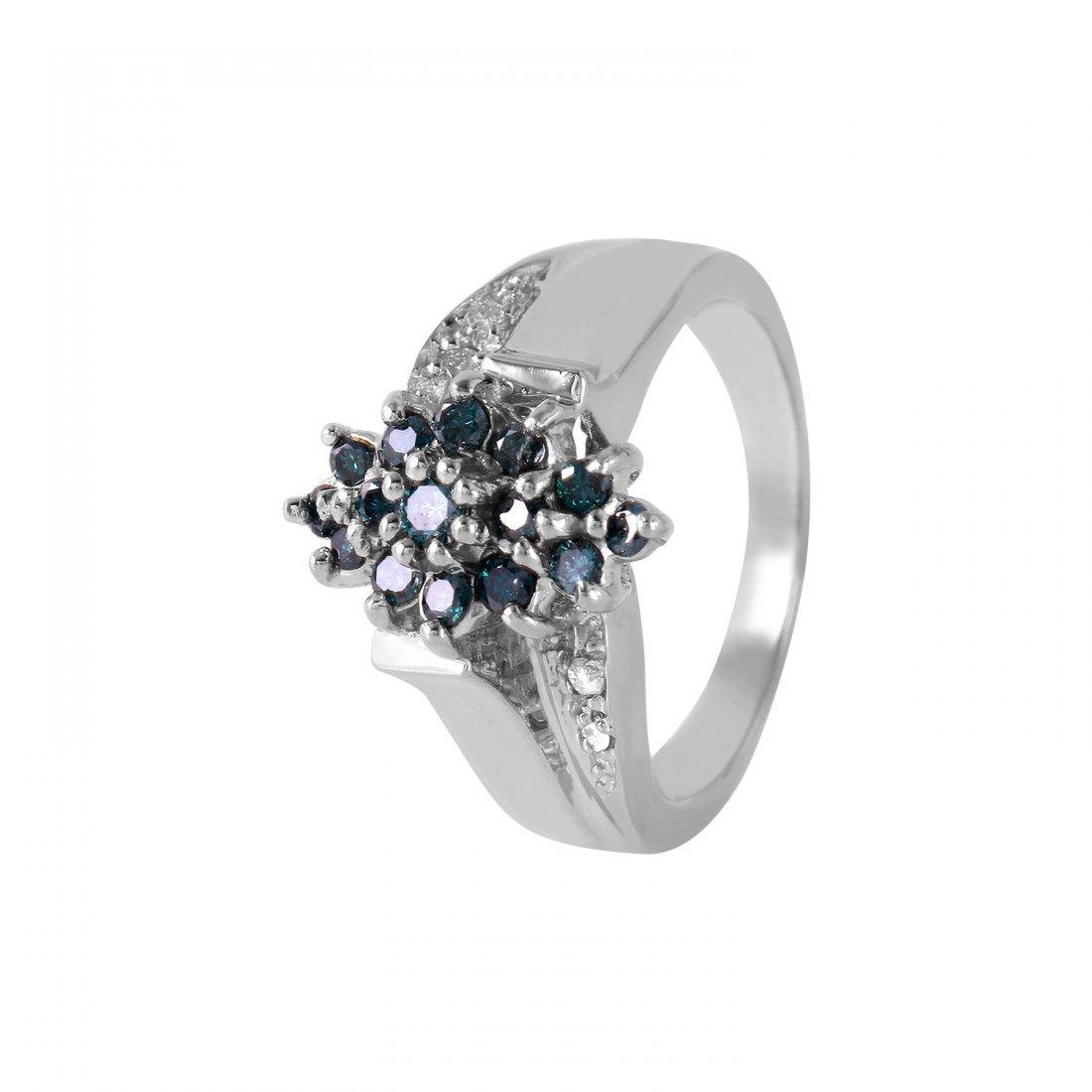 Ladies 0.51CTW Diamond 14K White Gold Ring