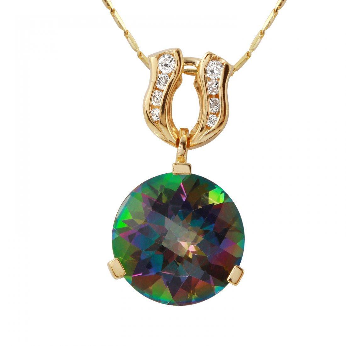 Ladies 12.65CTW Topaz And Diamond 14K Yellow Gold