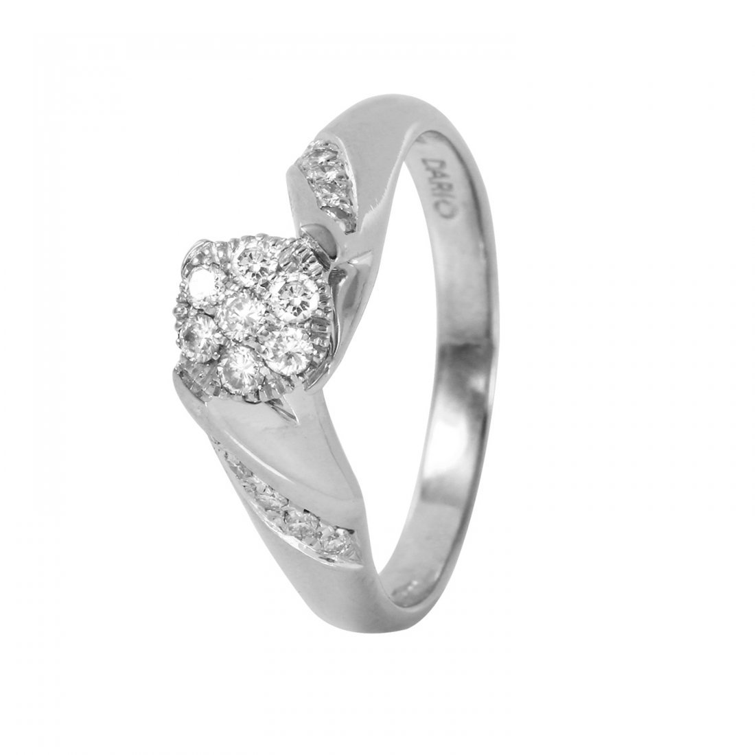Ladies 0.43CTW Diamond 18K White Gold Ring