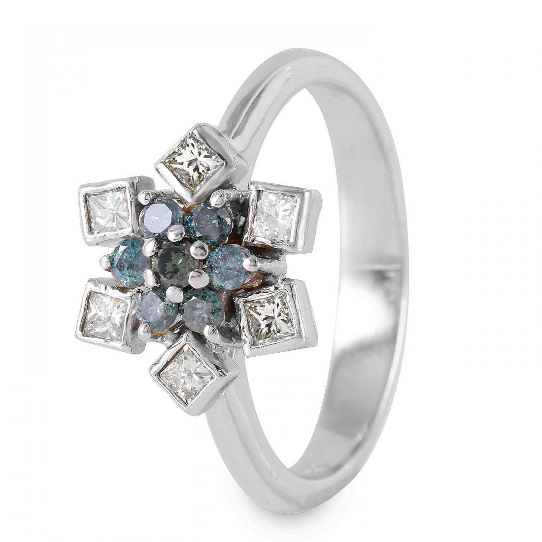 Ladies 0.75CTW Diamond 14K White Gold Ring