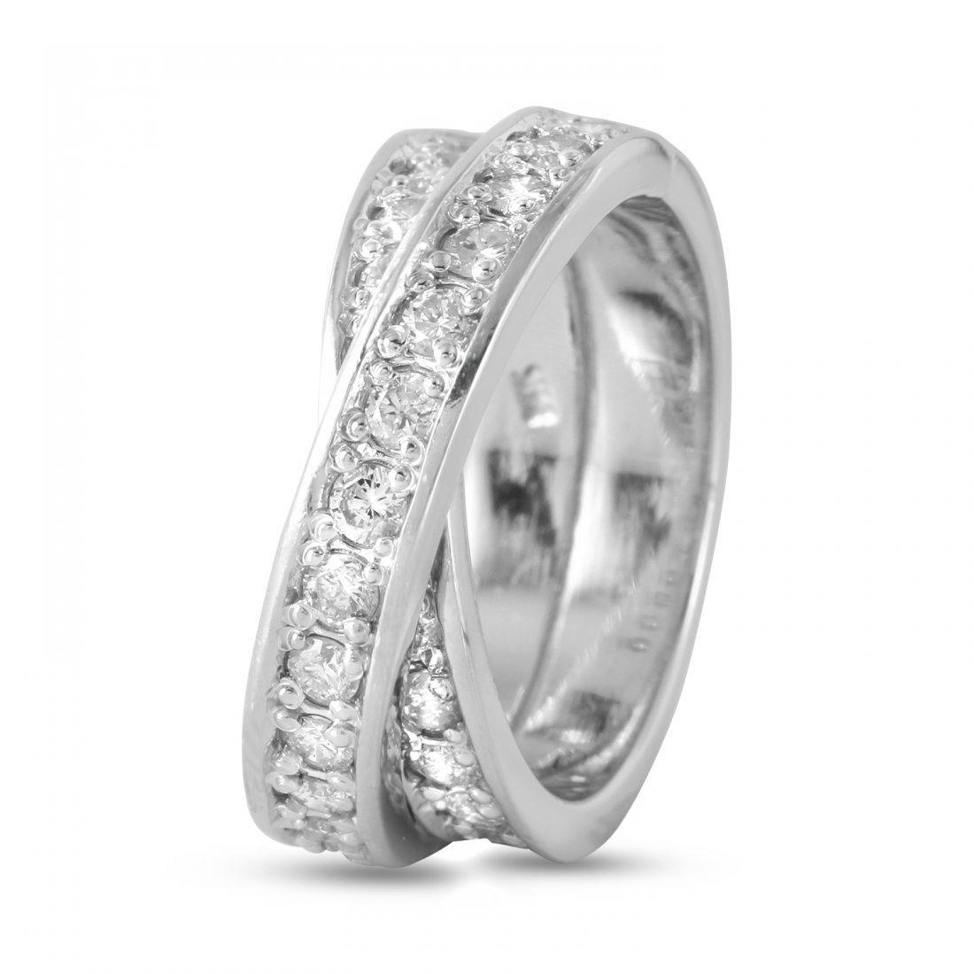 Ladies 1.5CTW Diamond 14K White Gold Ring