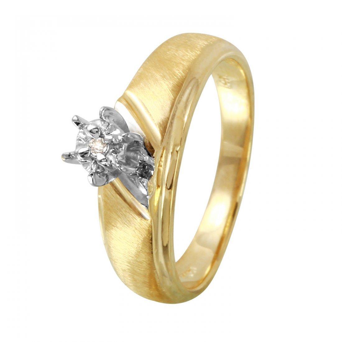 Ladies 0.02CTW Diamond 10k Two tone Gold Ring