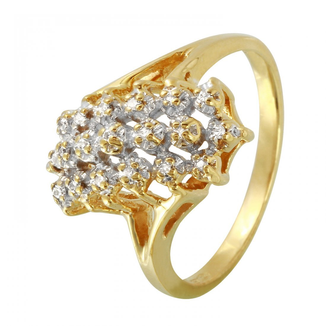 Ladies 0.06CTW Diamond 10k Yellow Gold Ring